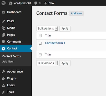 超簡単!Contact Form 7プラグインで問い合わせフォーム作成