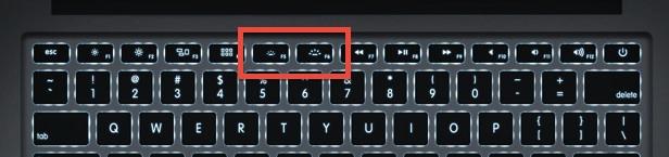 MacBookのキーボードバックライトの使い方