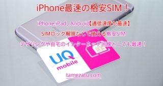 iPhone,iPad、Android【通信速度が最速】SIMロック解除なしで使える格安SIM。テザリングや自宅のインターネット回線変わりにも最適!